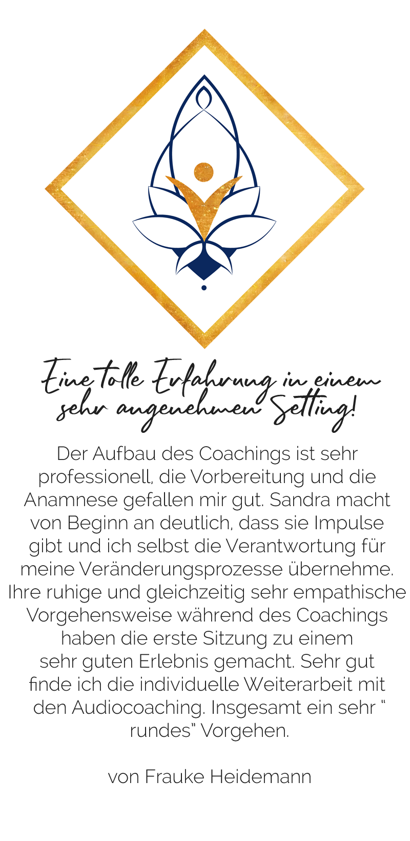 Empfehlung Coaching von Frauke Heidemann