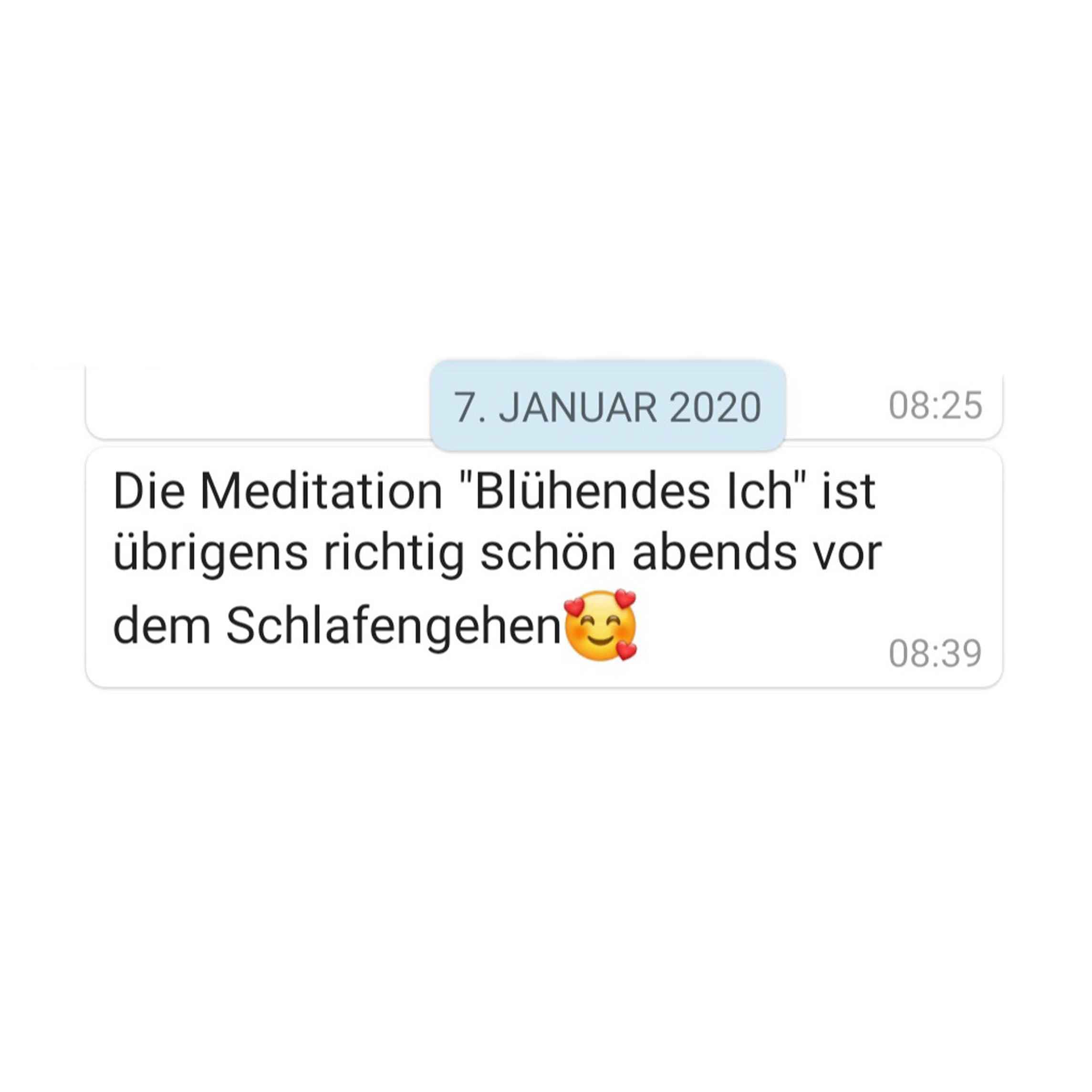Erfahrung Meditation Blühendes Ich